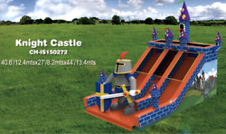 40x30x15commercial Inflatable Knight Castle Water Slide Bounce House Combo