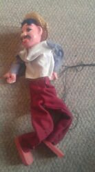 Vintage Mexican Marionette Puppet Plaster Head And Hands Wood Feet