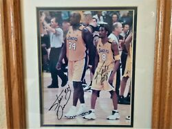 Kobe Bryant And Shaquille O'neal 8x10 Autograph Photo - Lakers V Pacers Finals