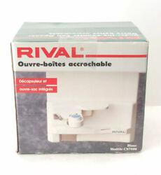 Rival Electric Under The Counter Can Opener W/ Bottle And Bag Opener Cn7600