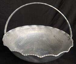 Vintage Rustic Old Style milcraft Hand Wrought Large Aluminum Basks Decoration