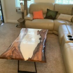 Acacia Epoxy Custom Order Resin River Dining Conference Table Top Living Dandeacutecors