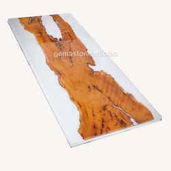 Custom Epoxy Table White Walnut River Dining Table Epoxy Resin Table Wood Deco
