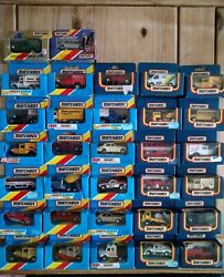 Job Lot Of 40 Boxed Matchbox Cars,from 70-80`s,vintage,old,mint Condition