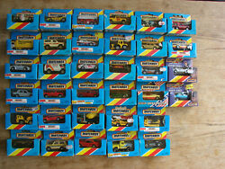 Job Lot Of 41 Boxed Matchbox Cars,from 70-80`s,vintage,old,mint Condition