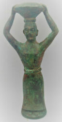 Extremely Rare Ancient Near Eastern Bronze Worshipper Statuette 30cm Long