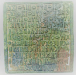 Ancient Near Eastern Bronze Tablet With Early Form Of Writing 40x30cm Very Rare