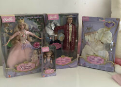 The Princess And The Pauper Barbie Ken And Shelly Kelly Doll Lot Bundle - Nrfb
