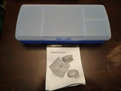 Tupperware Blue Lunch N Things Divided Container Snack Sandwich Keeper 4195a-1