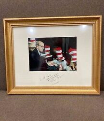 Framed Signed Justice Stephen Breyer Cat-in-a-hat Reading Across America Suess