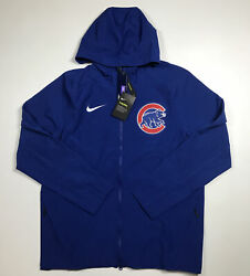 Nike Authentic Collection Chicago Cubs Full Zip Hoodie Size L Nwt