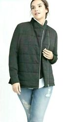 Ryllace Nwt 270 Cotton Stretch Zip Soft Pockets Coat Plus 3x Charcoal Gray
