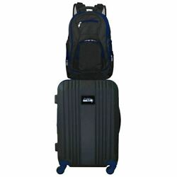 Seattle Seahawks 2 Piece Premium Colored Trim Backpack And Luggage Set