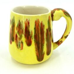 1960andrsquos Vintage Ceramic By Kathleen Coffee Mug Cup Htf Company Item Yellow