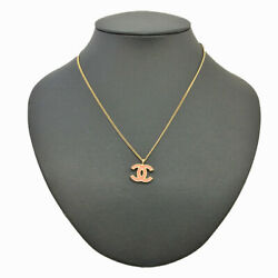 Coco Mark Necklace Gold Pink Gold-plated About 42cm 01 A Engraved Cha