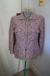 Pink Boucle Jacket Sz Fr 36/uk 8 -pink Is This Seasons Colour - Just Fab