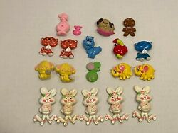 18 Avon 1970and039s Fragrance Glace Pin Pals Rabbits Kittens Elephants Dog Cow Mouse