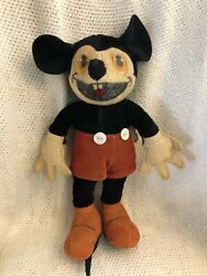 Rare Vintage Funny Bucktooth Smiling Tongue Mickey Mouse Cloth Doll Never Seen