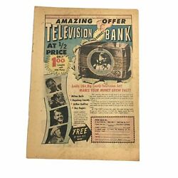 1956 Toy Ad Television Bank Roy Rogers Milton Berle Hopalong Cassidy Vintage