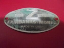 I.d. Tag For Fairbanks Morse 208 Z Hit Miss Engine Name Plate