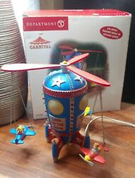 Department 56 Carnival Flying High Space Planes Rare Works Great