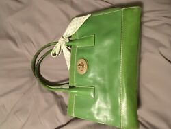 Authentic Leather Coach Bag Green $49.99