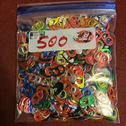 500 Assorted Colors Aluminum Pull Tabs Can Tabs Clean And Washed .. Lot 1