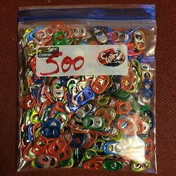 500 Assorted Colors Aluminum Pull Tabs Can Tabs Clean And Washed .. Lot 2