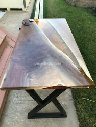Clear Resin Epoxy Acacia Personalize Dining Table Top Decorative Home Décor Arts