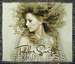 Taylor Swift Fearless Official Woven Tapestry Throw Blanket Afghan 60x50 Rare