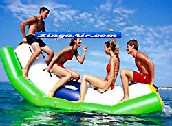 Commercial Inflatable Floating Seesaw Lake Pool Toy Bounce Slide Obstacle Course