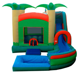 15x10x10 Commercial Inflatable Water Slide Bounce House Obstacle Course Combo