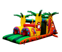 30x10x12 Commercial Inflatable Obstacle Course Water Slide Bounce House Combo