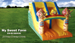 25x15x15 Commercial Inflatable Water Slide Bounce House Obstacle Course Combo
