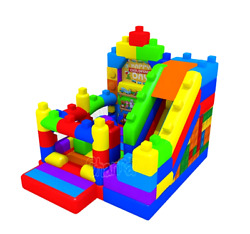 25x12x12 Commercial Inflatable Lego Bounce House Water Slide Pvc Party Combo