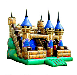 25x25x20 Commercial Inflatable Castle Slide Bounce House Obstacle Course Combo