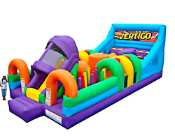 40x16x18 Commercial Inflatable Bounce House Obstacle Course Combo Water Slide