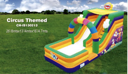 30x15x15 Commercial Inflatable Circus Water Slide Bounce House Obstacle Combo