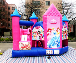 25x25x15 Commercial Inflatable Princess 5 In 1 Bounce House Slide Obstacle Combo