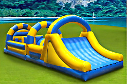 Inflatable 30x8x12 Obstacle Course Bounce House Slide Trampoline Commercial