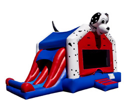 30x20x20 Commercial Inflatable Dog Slide Bounce House Obstacle Course Combo Pvc