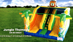 15x12x9 Commercial Inflatable Z00 Combo Bounce House Water Slide Castle Course