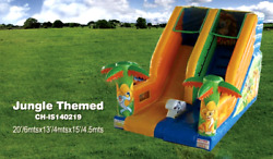 20x15x15 Commercial Inflatable Jungle Water Slide Bounce House Obstacle Course