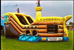 25x10x15 Commercial Inflatable Pirate Ship Boat Bounce House Slide Castle Course