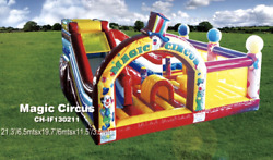 25x20x12 Commercial Inflatable Water Slide Bounce House Obstacle Course Combo