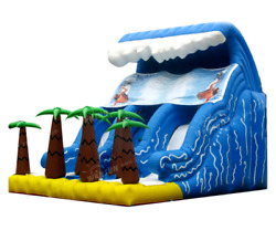 25x20x15 Commercial Inflatable Water Slide Bounce House Obstacle Course Combo