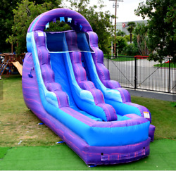 30x12x15 Commercial Inflatable Tropical Water Slide N Slip Bounce House Castle