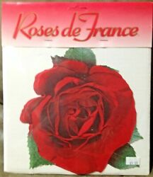 2 Vintage Roses De France Paper Doilies -red - 20 Count In Each New In Package