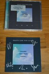 Death Cab For Cutie Autographed Thank You For Today Postcard With Cd And Coa