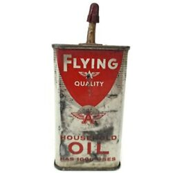 Vintage Flying A Household Oil Gas Can Tin Veedol 4 Oz Can Tidewater Early